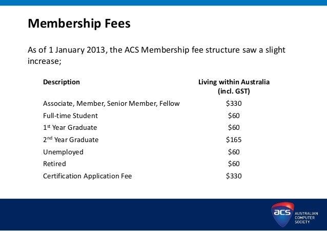 ACS Membership and Certification