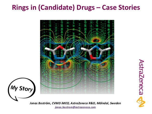 Rings in (Candidate) Drugs – Case Stories Jonas Boström, CVMD iMED, AstraZeneca R&D, Mölndal, Sweden jonas.bostrom@astraze...