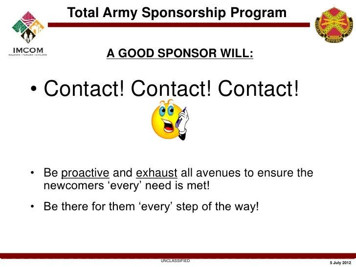 army-community-service-sponsorship-training-9-728 Da Form Sponsorship Examples on