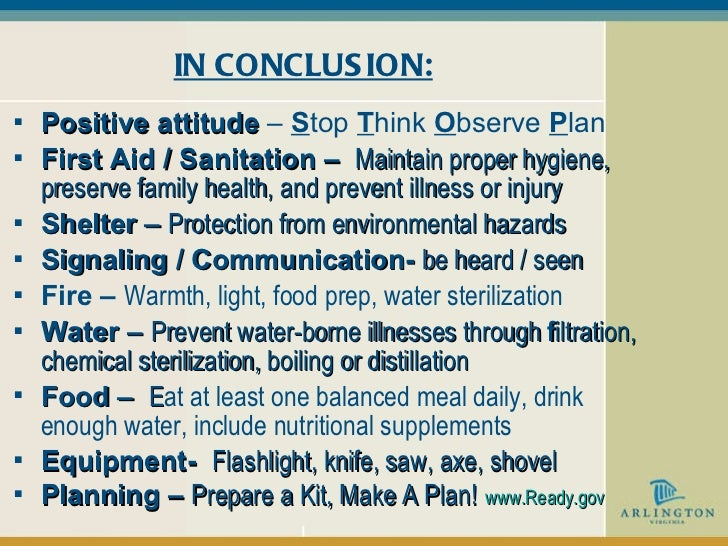 survival skills during disasters pdf