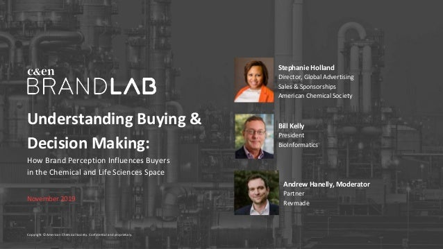 Understanding Buying & Decision Making: How Brand Perception Influences Buyers in the Chemical and Life Sciences Space Nov...