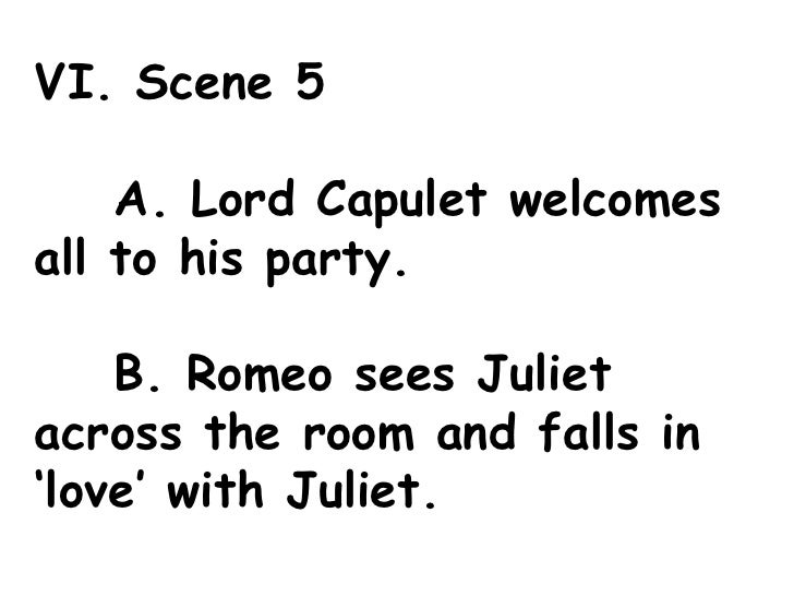 Romeo & Juliet Act 1 Outline