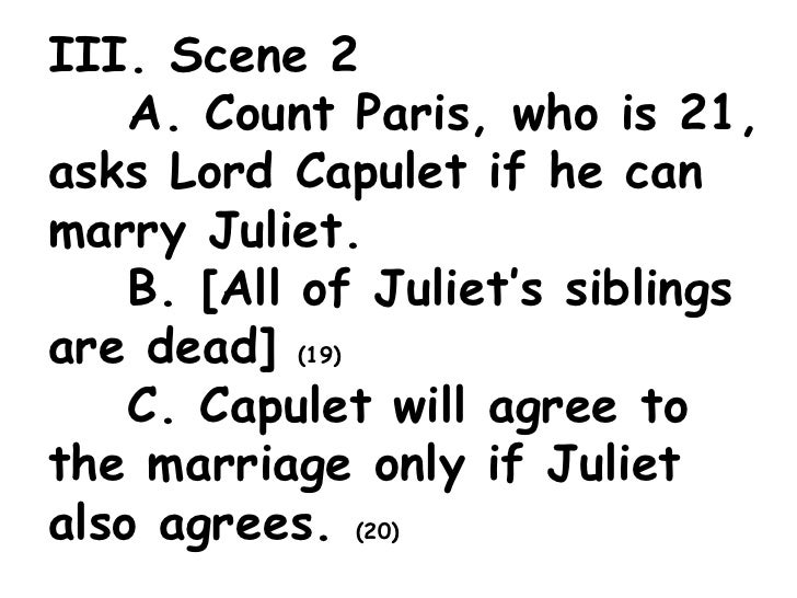 what agreement do paris and lord capulet reach