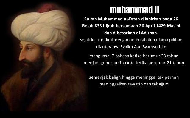 Hasil carian imej untuk Muhammad al-Fatih