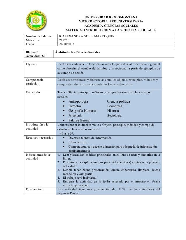 UNIVERSIDAD REGIOMONTANA VICERRECTORÍA PREUNIVERSITARIA ACADEMIA CIENCIAS SOCIALES MATERIA: INTRODUCCIÓN A LAS CIENCIAS SO...