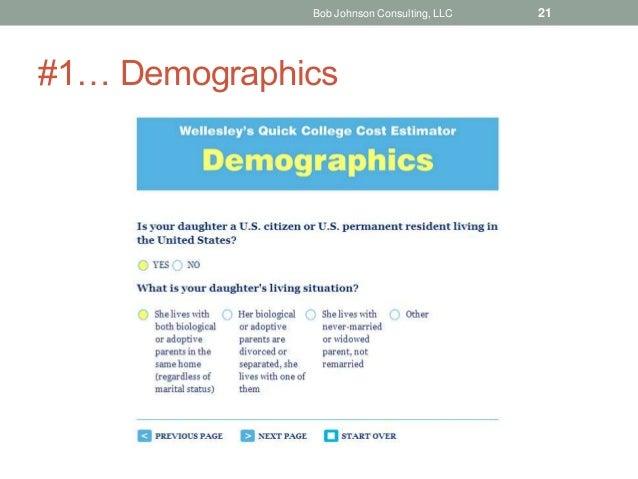#1… Demographics Bob Johnson Consulting, LLC 21