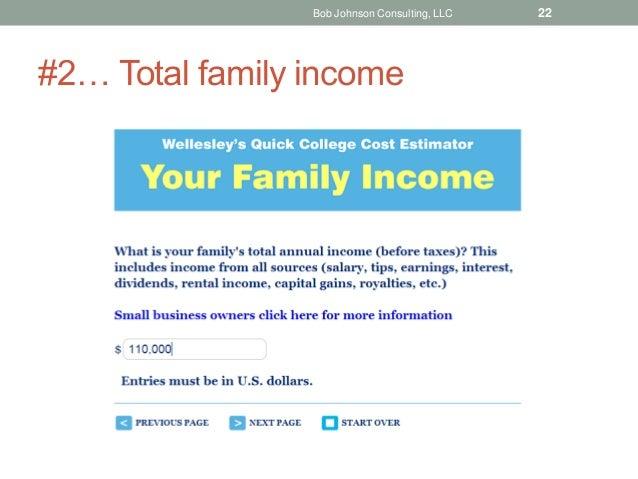 #2… Total family income Bob Johnson Consulting, LLC 22