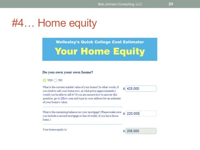 #4… Home equity Bob Johnson Consulting, LLC 24