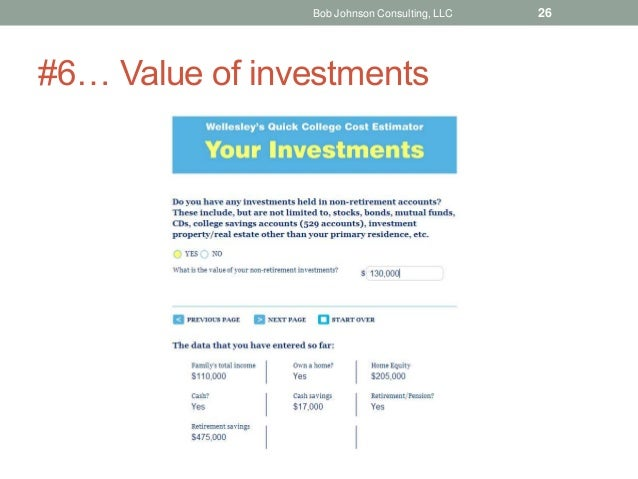 #6… Value of investments Bob Johnson Consulting, LLC 26