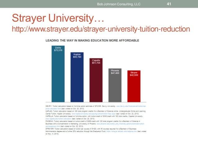Strayer University… http://www.strayer.edu/strayer-university-tuition-reduction Bob Johnson Consulting, LLC 41