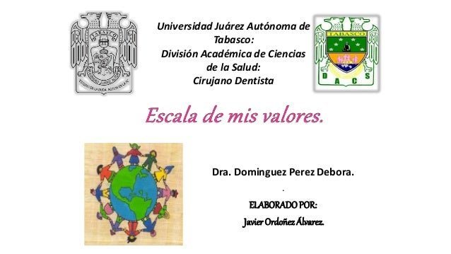 Dra. Dominguez Perez Debora. . ELABORADOPOR: Javier Ordoñez Álvarez. Universidad Juárez Autónoma de Tabasco: División Acad...