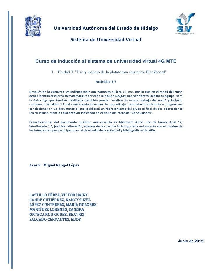 Universidad Autónoma del Estado de Hidalgo                             Sistema de Universidad Virtual    Curso de inducció...