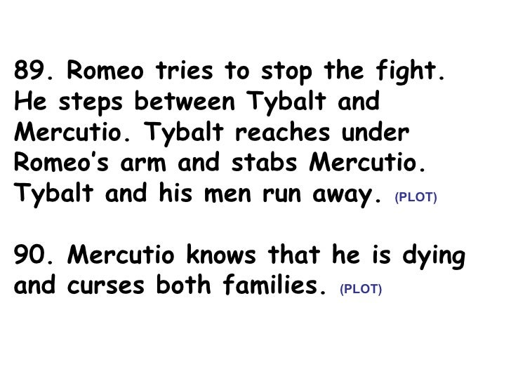 Romeo & Juliet Act 3 Sticky Notes