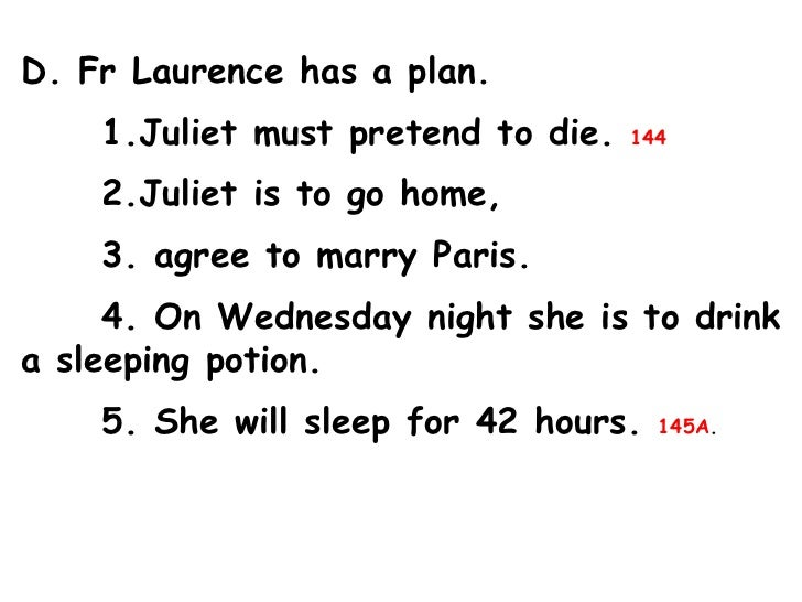 Romeo & Juliet Act 4 Outline
