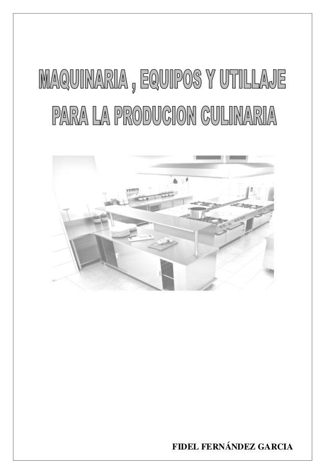 Act n 3 maquinaria equipos y utillaje pdf for Utillaje cocina