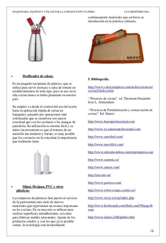 Act n 3 maquinaria equipos y utillaje pdf for Procesos de preelaboracion y conservacion en cocina pdf