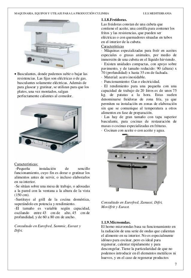 Act n 3 maquinaria equipos y utillaje pdf for Utensilios de cocina y sus funciones pdf