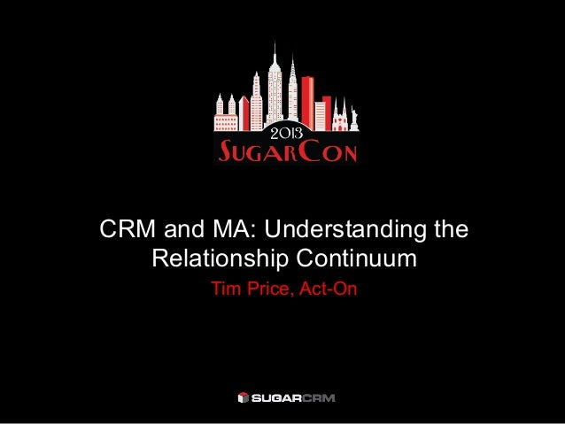 CRM and MA: Understanding theRelationship ContinuumTim Price, Act-On
