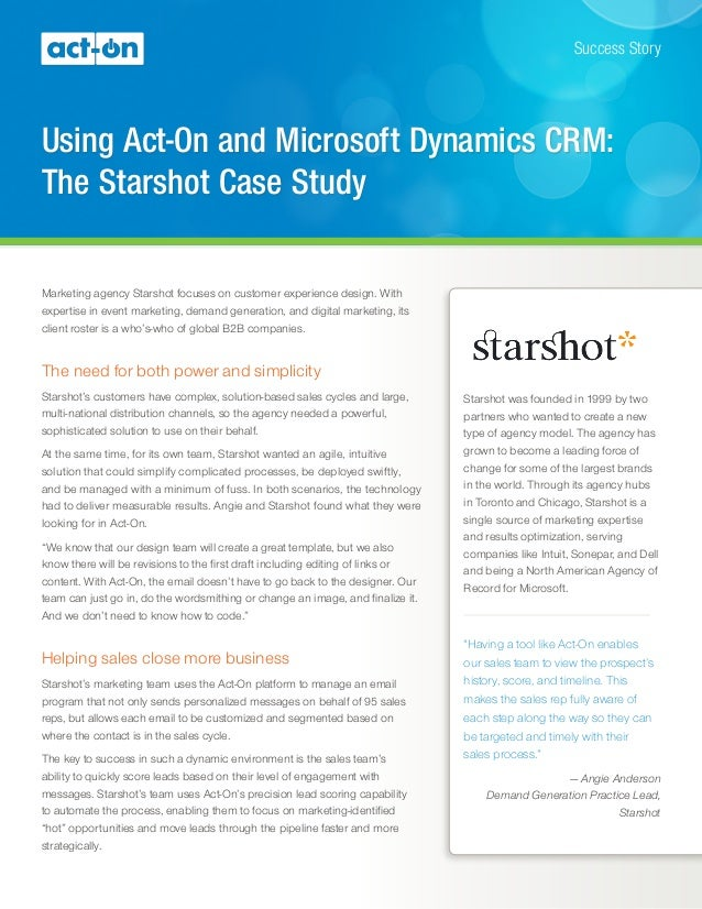 microsoft characteristics crm condition studies