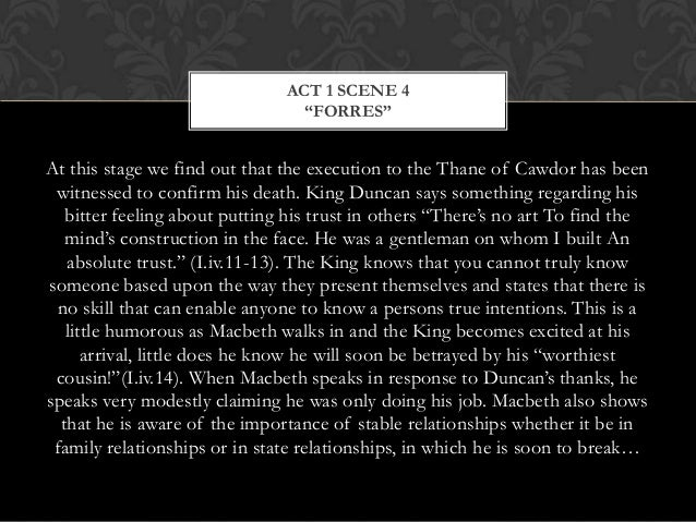 the circumstances regarding king duncans murder by the thane of cawdor in macbeth The witches predict that macbeth will be thane of cawdor and king of scotland,  she then tells him her plan for the murder, which macbeth accepts:.