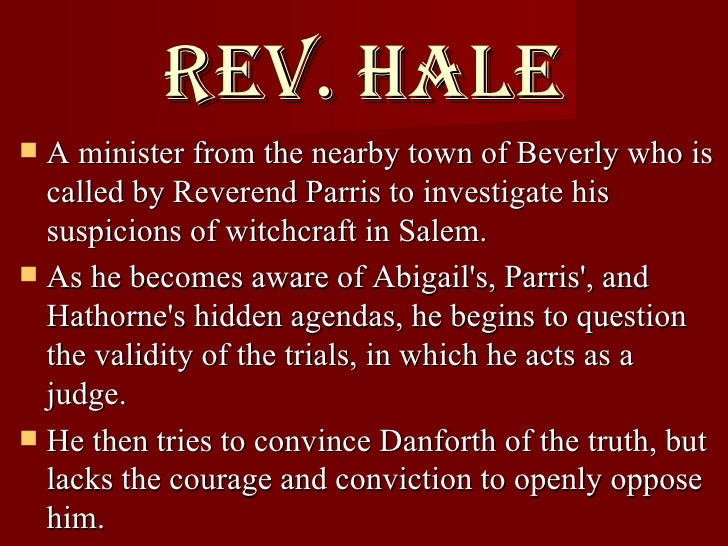 The Crucible Reverend Hale Character Analysis