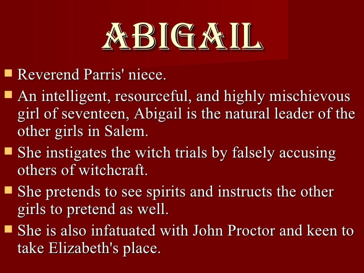 abigail williams from the crucible essay