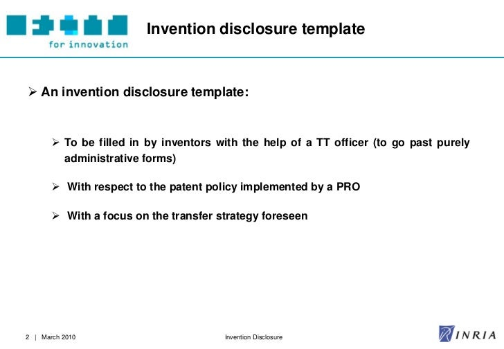 FITT Toolbox: Invention Disclosure