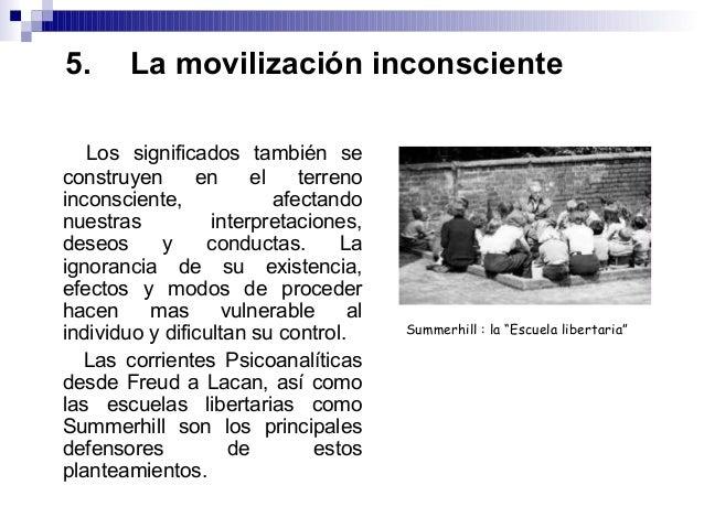 5. La movilización inconsciente Los significados también se construyen en el terreno inconsciente, afectando nuestras inte...