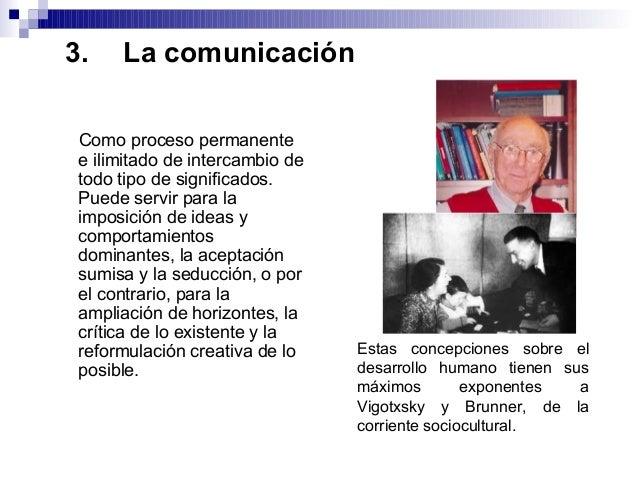 3. La comunicación Como proceso permanente e ilimitado de intercambio de todo tipo de significados. Puede servir para la i...