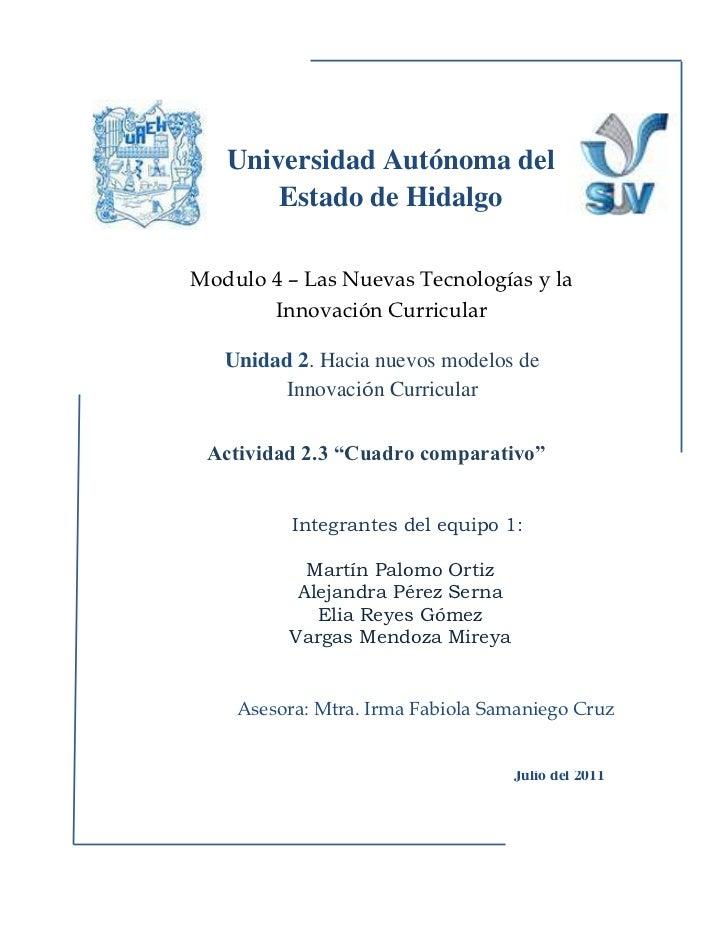 Universidad Autónoma del Estado de Hidalgo<br />  <br />      Integrantes del equipo 1:Martín Palomo OrtizAlejandra Pérez ...