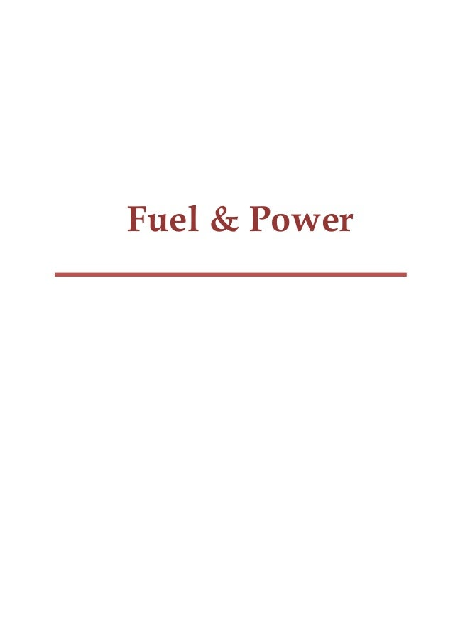 Fuel & Power