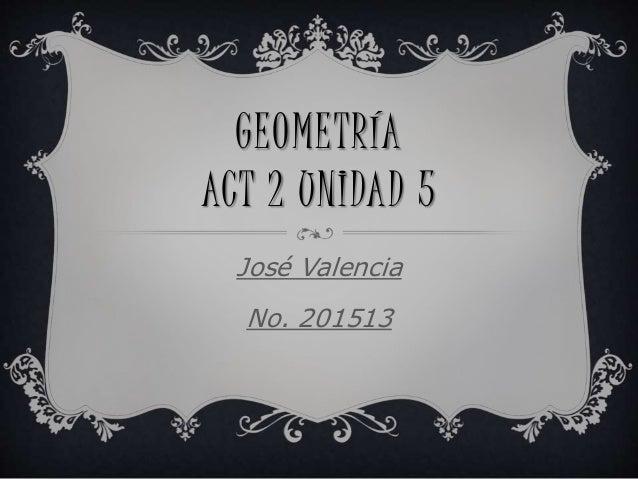 GEOMETRÍA ACT 2 UNIDAD 5 José Valencia No. 201513