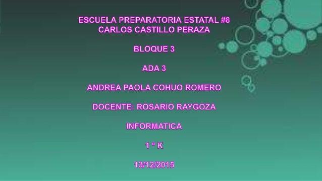 Andrea Paola Cohuo Romero 1K 13 de diciembre del 2015