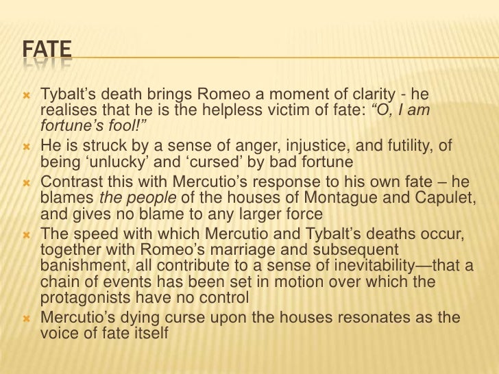 Romeo and juliet essay on fate