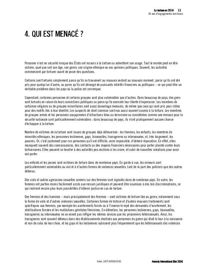 12 La tLa tLa tLa tortureortureortureorture eeeen 2014n 2014n 2014n 2014 30 ans d'engagements non tenus Amnesty Internatio...