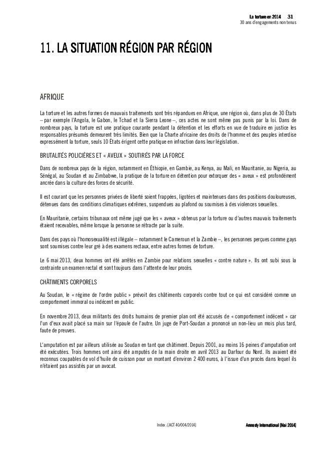 32 La tLa tLa tLa tortureortureortureorture eeeen 2014n 2014n 2014n 2014 30 ans d'engagements non tenus Amnesty Internatio...