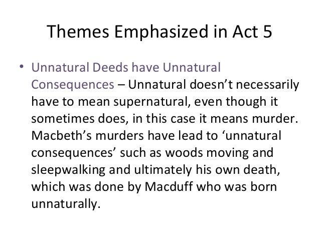 macbeth motif reversal of nature
