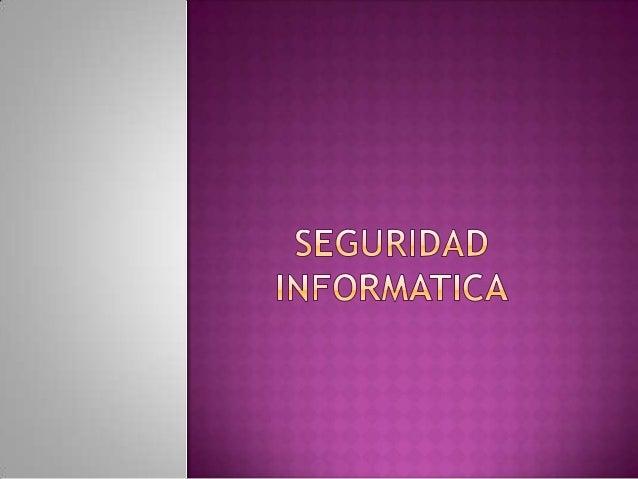  Es el área de la informática  que se enfoca en la  protección         de      la  infraestructura  computacional y todo ...