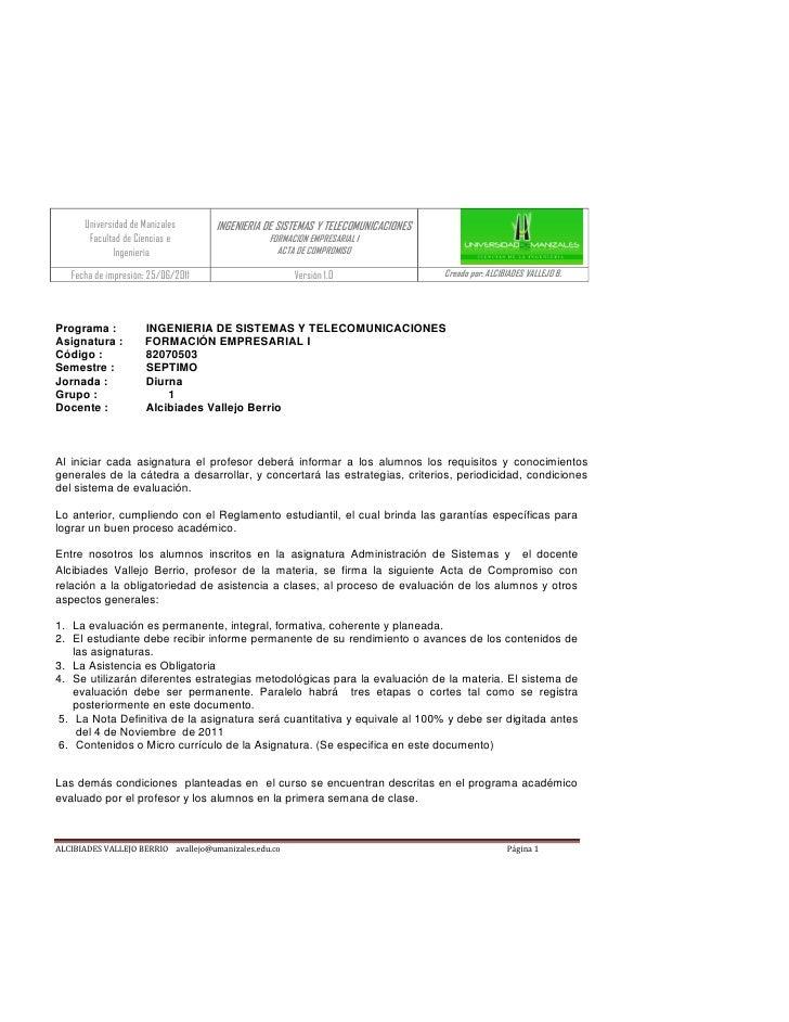 Universidad de Manizales       INGENIERIA DE SISTEMAS Y TELECOMUNICACIONES       Facultad de Ciencias e                   ...