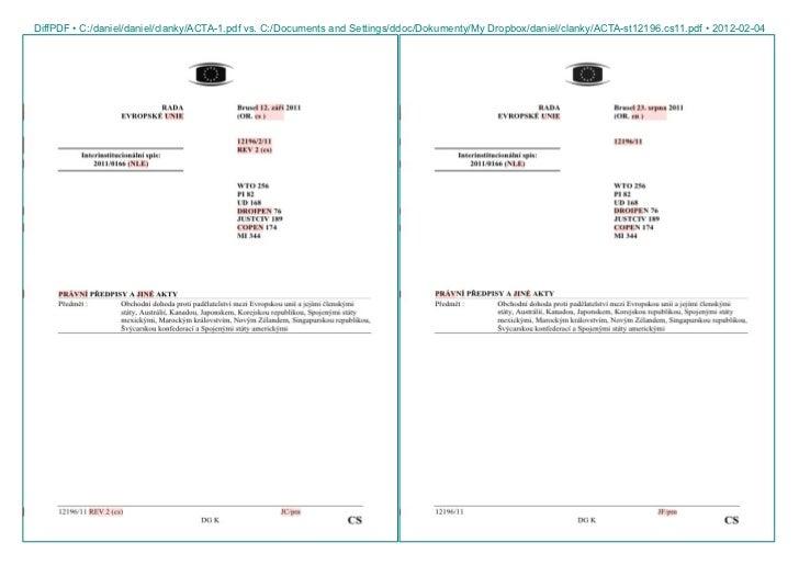 DiffPDF • C:/daniel/daniel/clanky/ACTA-1.pdf vs. C:/Documents and Settings/ddoc/Dokumenty/My Dropbox/daniel/clanky/ACTA-st...