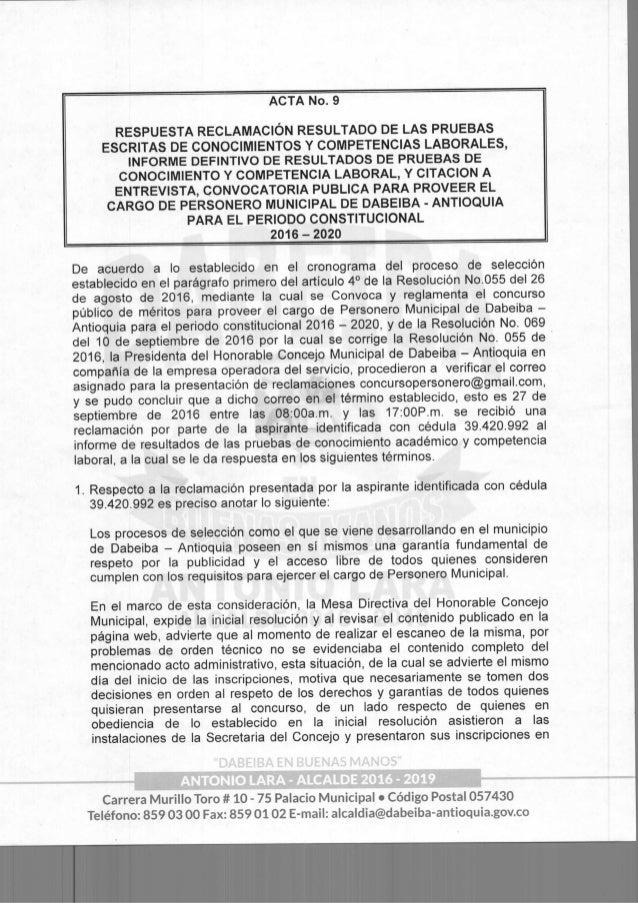 Acta 09001