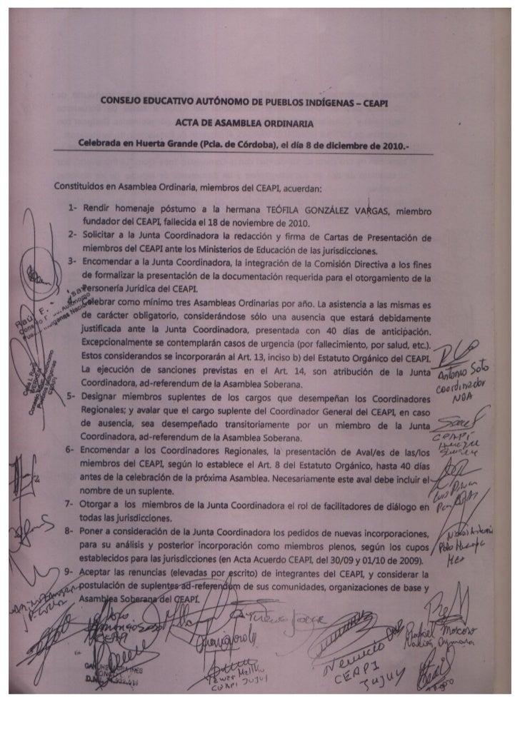 Acta asamblea ordinaria Diciembre 8 de 2010