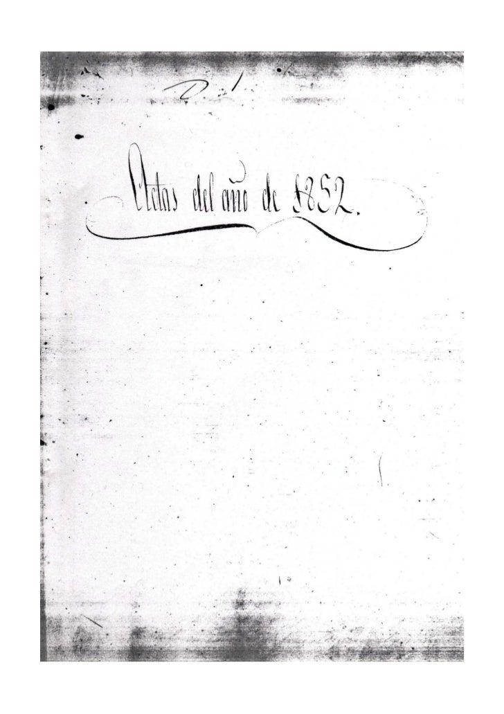=Sello 4º = Año 1852 = 40 Ms1. =Sesión del sábado, 31 de enero de 18522Reunidos en el local acostumbrado los Srs. del Ayun...