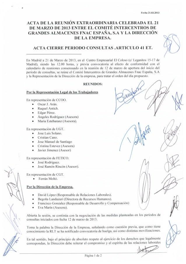 Acta cierre 41 y acuerdo fnac