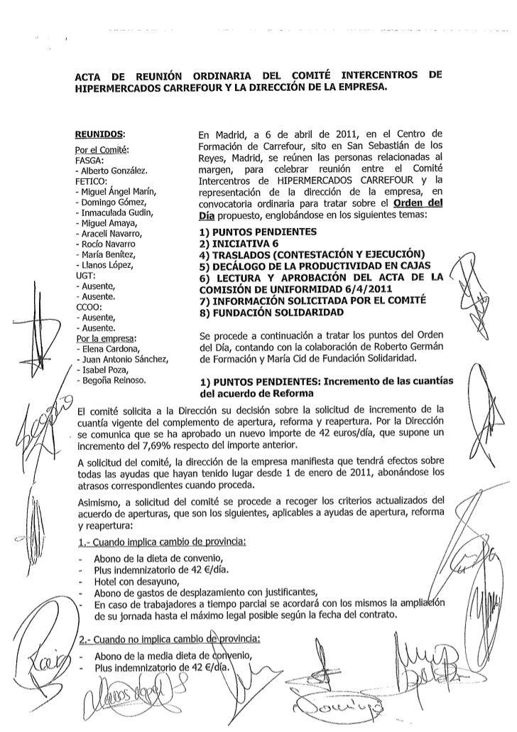Acta comité empresa 6 abril 2011