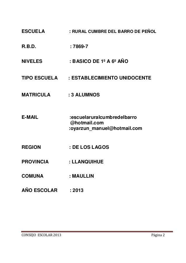 Acta constitucion y reglamento  consejo escolar 2013 Slide 2