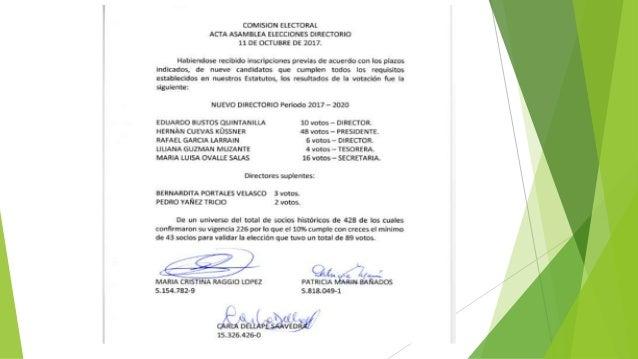Acta elecciones directorio 2017