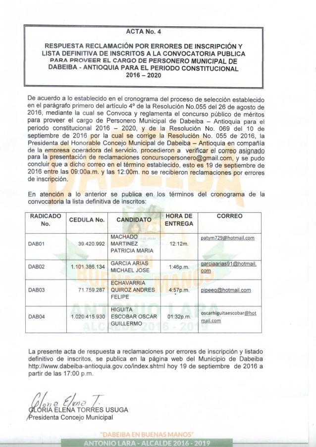 Acta n° 4