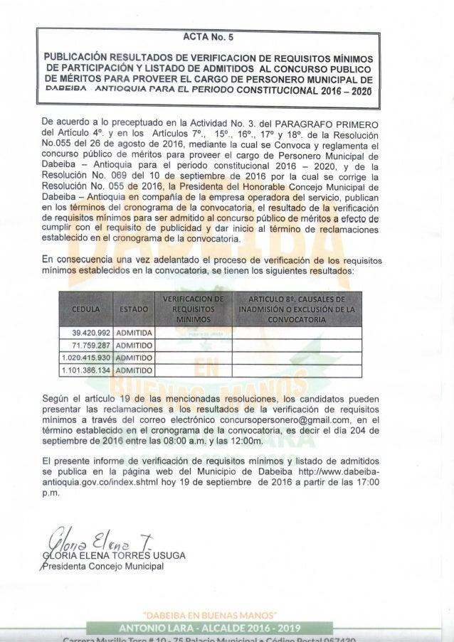 Acta n° 5