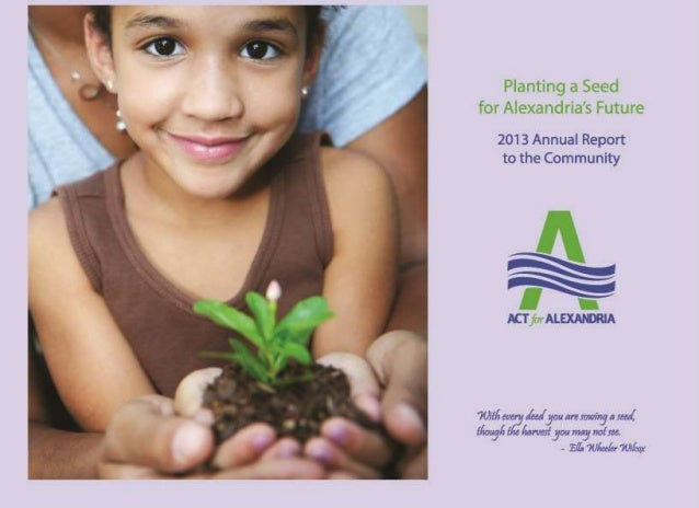 ACT for Alexandria 2013 Annual Report